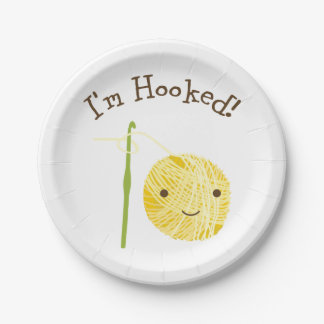 I'm Hooked Paper Plate