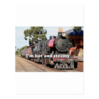 I'm hot and steamy: Goldfields steam locomotive Postcard