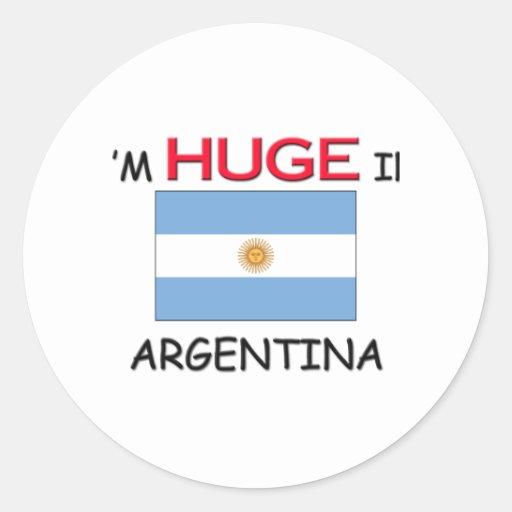 I'm HUGE In ARGENTINA Classic Round Sticker