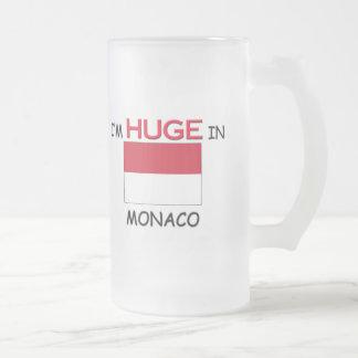 I'm HUGE In MONACO Frosted Glass Beer Mug