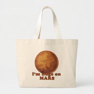I'm Huge on Mars Martian Humor Large Tote Bag