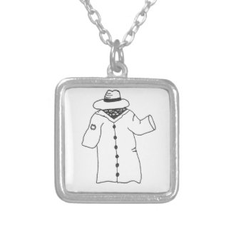 I'm Human-- Really! Silver Plated Necklace