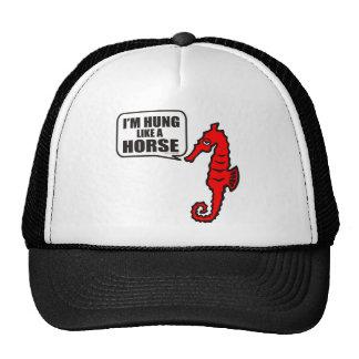 I'M HUNG LIKE A HORSE TRUCKER HAT