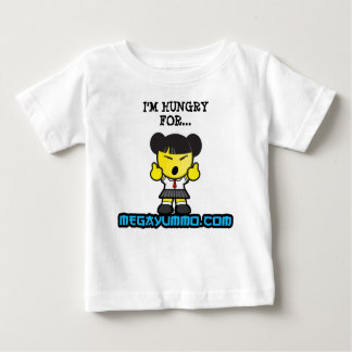 """""""I'm Hungry for megayummo.com"""" One-piece Baby T-Shirt"""