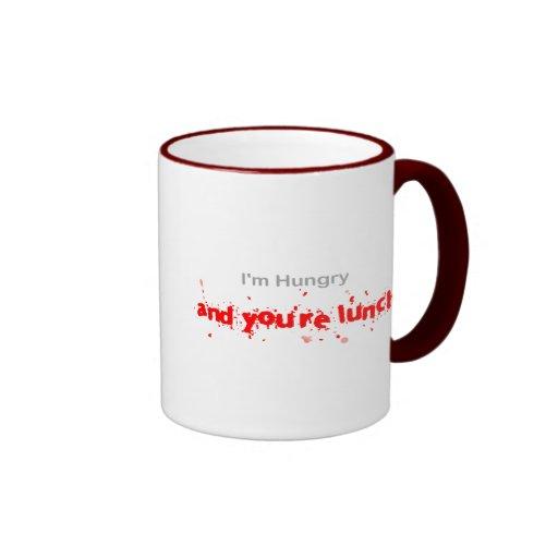 I'm hungry...... ringer coffee mug