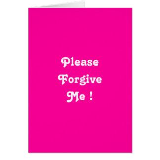 I'm hurt please forgive me  greeting card