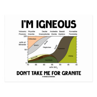 I'm Igneous Don't Take Me For Granite Postcard