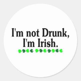 Im Im irlandés no borracho 2 Etiqueta Redonda