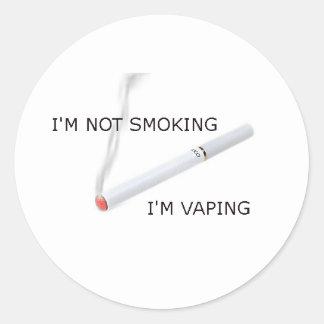Im Im que no fuma vaping Pegatina Redonda