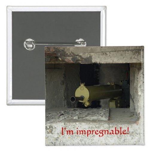 I'm impregnable! 2 inch square button