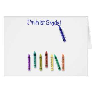 I'm in 1st Grade! Cards