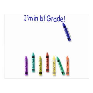 I'm in 1st Grade! Postcard