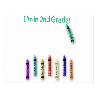 I'm in 2nd Grade! Postcard