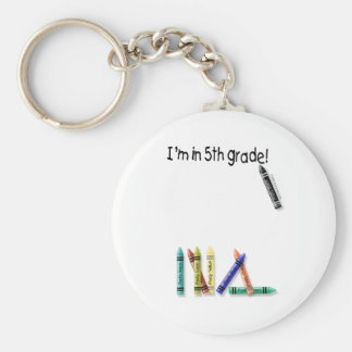 I'm in 5th Grade! Keychain
