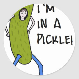 I'm in a pickle classic round sticker