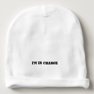 I'm In Charge Text Baby Beanie