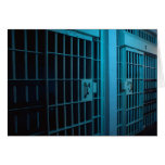 I'M IN JAIL AND SHE'S THE WARDEN GREETING CARD