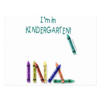 I'm in Kindergarten Postcard