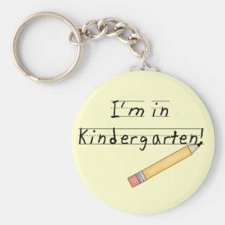 I'm in Kindergarten Tshirts and Gifts Basic Round Button Keychain