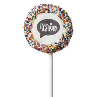 I'm In Lesbian With You LGBT Pride Chocolate Dipped Oreo Pop