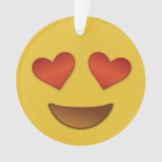 I'm in like with you emoji ornament