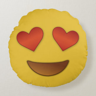 I'm in like with you emoji round pillow
