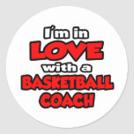 I'm In Love With A Basketball Coach Sticker