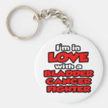 I'm In Love With A Bladder Cancer Fighter Key Chain