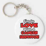 I'm In Love With A Cancer Survivor Key Chain