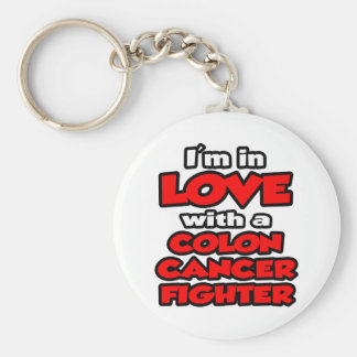 I'm In Love With A Colon Cancer Fighter Keychain