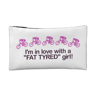 I'm in love with a fat tyred girl cosmetic bag