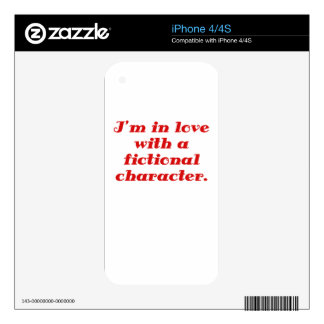 Im in love with a fictional character decals for the iPhone 4S