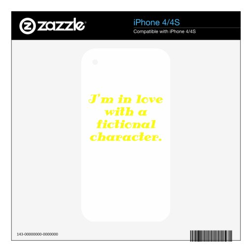 Im in love with a fictional character decal for iPhone 4