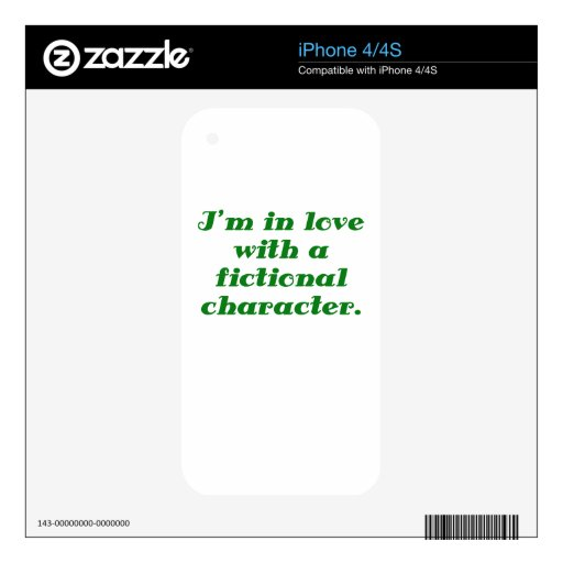 Im in love with a fictional character iPhone 4 skin