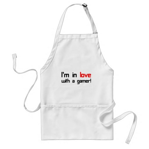I'm in Love with a Gamer Adult Apron