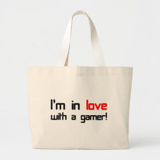 I'm in Love with a Gamer Large Tote Bag