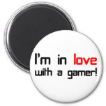 I'm in Love with a Gamer Refrigerator Magnets