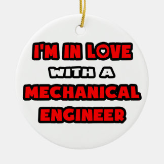 I'm In Love With A Mechanical Engineer Double-Sided Ceramic Round Christmas Ornament