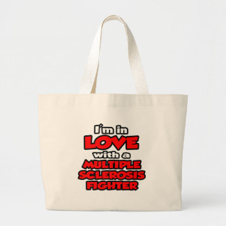 I'm In Love With A Multiple Sclerosis Fighter Jumbo Tote Bag