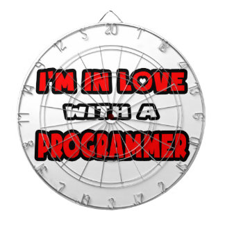 I'm In Love With A Programmer Dartboard