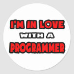 I'm In Love With A Programmer Stickers