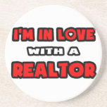 I'm In Love With A Realtor Drink Coasters