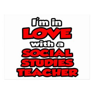 I'm In Love With A Social Studies Teacher Postcard