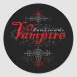 I'm In Love with a Vampire Classic Round Sticker