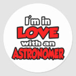 I'm In Love With An Astronomer Round Sticker