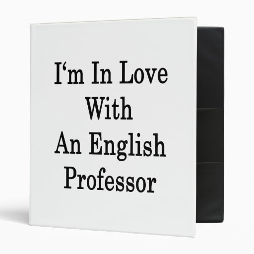 I'm In Love With An English Professor Binders