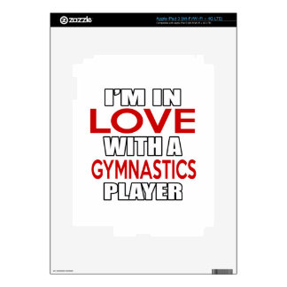 I'm in love with GYMNASTICS Player iPad 3 Decals