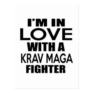 I'M IN LOVE WITH KRAV MAGA FIGHTER POSTCARD