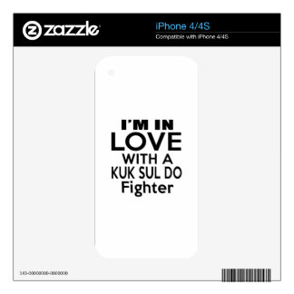 I'M IN LOVE WITH KUK SUL DO FIGHTER iPhone 4 DECALS