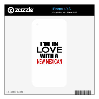 I'M IN LOVE WITH NEW MEXICAN DECALS FOR iPhone 4S